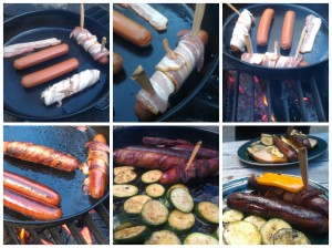 Mt Rainer Bacon Wrapped Hot Dogs